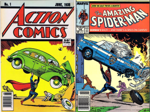 Action Comics #1 / Amazing Spider-Man #306 Cover Swipe