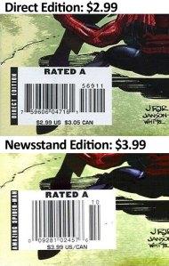 Newsstand copies of Amazing Spider-Man #569 (first Anti-Venom) are a price variant.