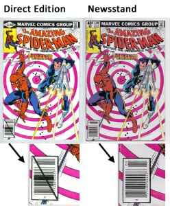 Early Direct Edition Vs. Newsstand Copy, ASM #201