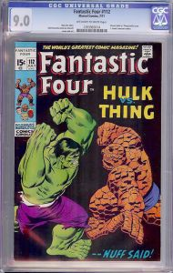 Fantastic Four #112 - Classic Battle