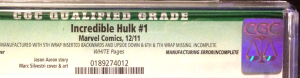 A copy given CGC's green Qualified grade and denoted at the right with: Manufacturing Error/Incomplete.