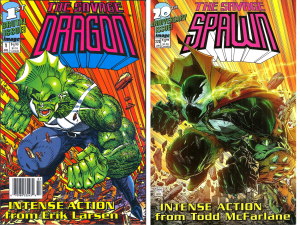 Savage Dragon #1 -- Cover Swipe Spawn #220