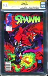 Spawn #1 Newsstand CGC SS