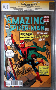 Amazing Spider-Man #700 Ditko Variant Stan Lee CGC Signature Series