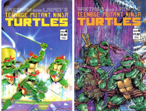 TMNT #4 Manufacturing Error / Misprint