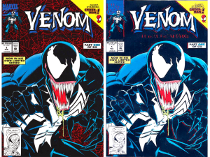 Venom #1 Black Cover / Printing Error