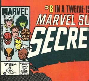 U.S. newsstand copies of Secret Wars #8 were priced at 75 cents.