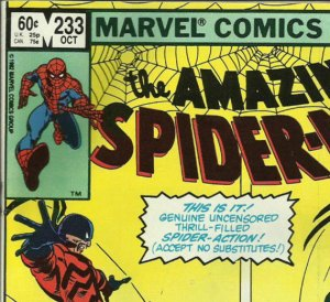 Amazing Spider-Man 233, direct edition.