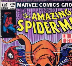 Canadian newsstand edition copy of ASM #238, with 75 cent cover price.