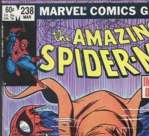 Direct edition copy of ASM #238, listing both prices, 60 cents U.S. and 75 cents in Canada.