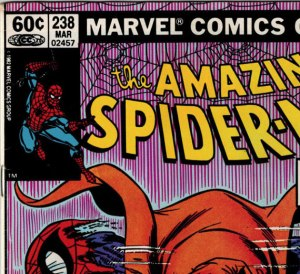 U.S. newsstand copy of ASM #238 with 60 cent cover price.