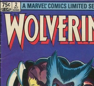 Canadian newsstand edition copy of Wolverine Limited Series #2, with 75 cent cover price.