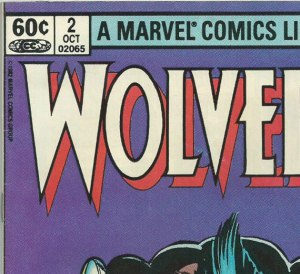 U.S. newsstand copy of Wolverine #2, priced at 60 cents.