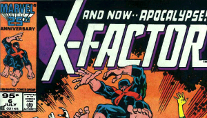 A 95 cent cover price variant copy of X-Factor #6.