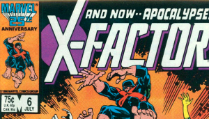 A direct edition copy of X-Factor #6. The large type US cover price was 75 cents (CAN. 95 cents at the bottom).
