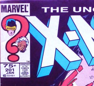 X-Men #201 Canadian newsstand edition (95 cent cover price).