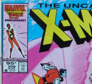 X-Men #208 Canadian newsstand edition (price had been increased to 95 cents at this point).