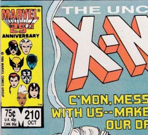 X-Men #210 direct edition.