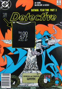 Detective Comics #577 with $1.00 cover price.