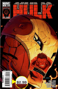 Hulk (2008) #2, direct edition copy priced at $2.99.