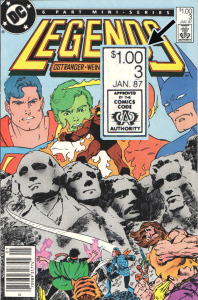 Legends #3 with $1.00 cover price.