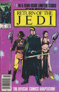 Return of the Jedi #1, 75 cent cover price variant.