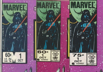 Three different versions of this Star Wars comic exist too... And the one on the right has a higher cover price and is drastically more rare!
