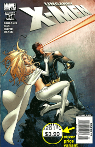 Uncanny X-Men #499, $3.99 Newsstand Edition cover price variant.