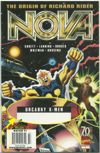 Nova: The Origin of Richard Rider, Newsstand Variant, manufactured with UPC code for Uncanny X-Men.