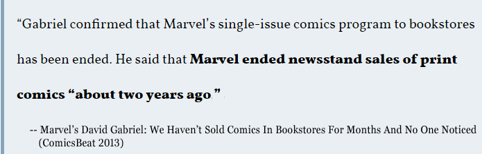 Marvel Ends Newsstand Sales