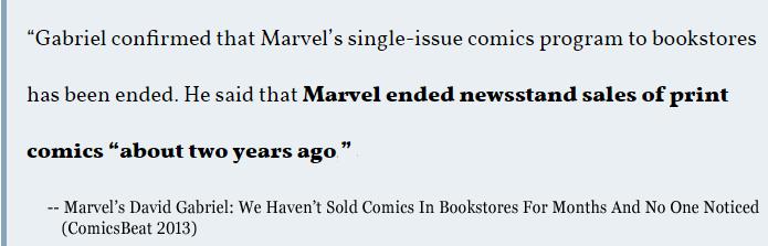 Marvel Ends Newsstand Sales