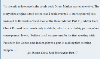 Jim Shooter Quote About The Direct Market