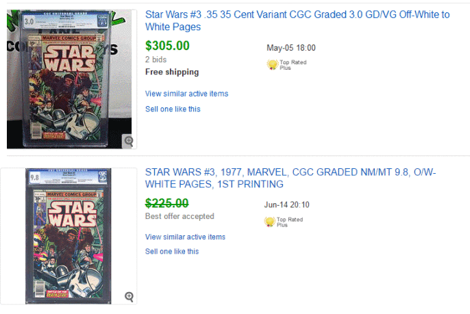Star Wars #3 Relative Value