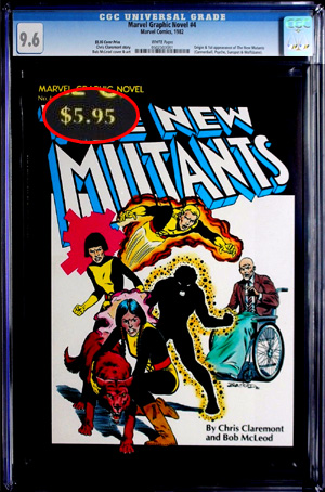 Marvel Graphic Novel #4 with $5.95 cover price, manufactured in the USA but sold into the Canadian market. Magazine tier at CGC and distributed not like a comic book, but as a graphic novel. Instead of a direct edition and two newsstand editions, there were just 4.95 and 5.95 copies of the 1st printing.