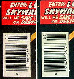 The UPC codes (and everything else about the comic within) were identical.