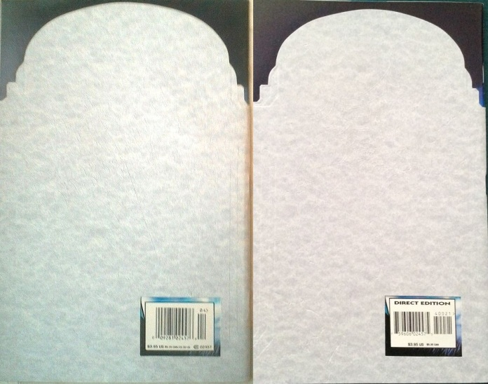 Amazing Spider-Man #400 (Back cover comparison), Newsstand vs Direct Edition.
