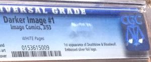 An older CGC label, for Darker Image #1, Image Comics, 3/93.