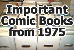 Key comics from 1975