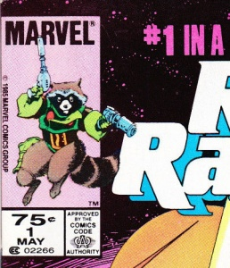Without looking up the answer, can you tell me whether the above-pictured comic is a US newsstand copy or a Canadian newsstand copy of Rocket Raccoon #1?