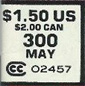 Example ASM #300 newsstand copy price box, with both US and Canadian prices shown.
