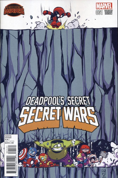 Secret Wars #4 cover swipe: Deadpool's Secret Secret Wars #1.