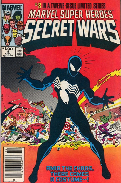Secret Wars #8 variant with $1.00 cover price.