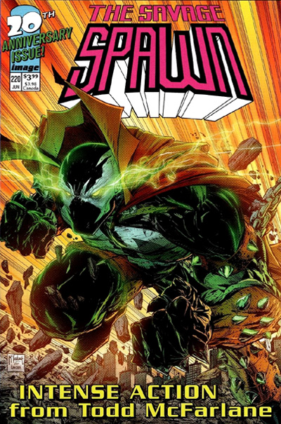 Example Savage Dragon Limited Series #1 cover swipe: Spawn #220.