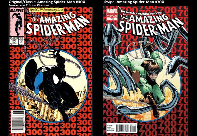 Amazing Spider-Man #300; cover swipe: Amazing Spider-Man #700.