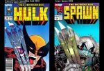 Incredible Hulk #340; cover swipe: Spawn #226.