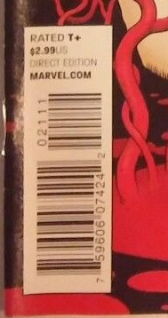 Direct Edition copies of Daredevil #21 had a cover price of $2.99.