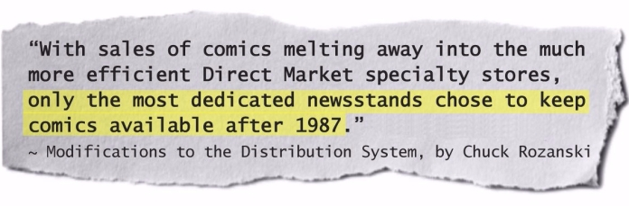 State of the newsstand market in 1987.