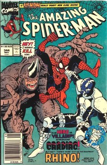Amazing Spider-Man #344, $1.50 AUS variant