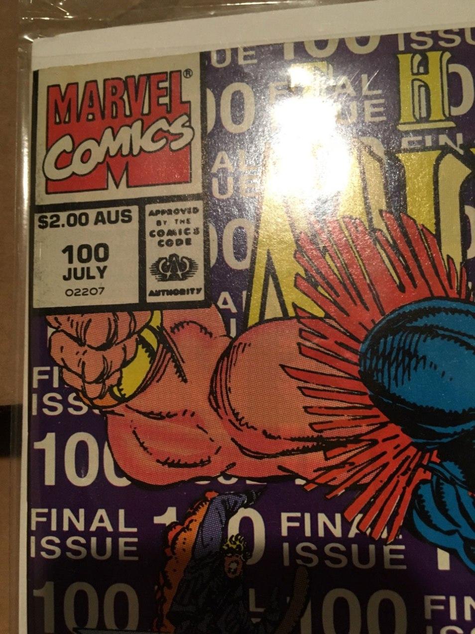 New Mutants #100, $2.00 AUS variant