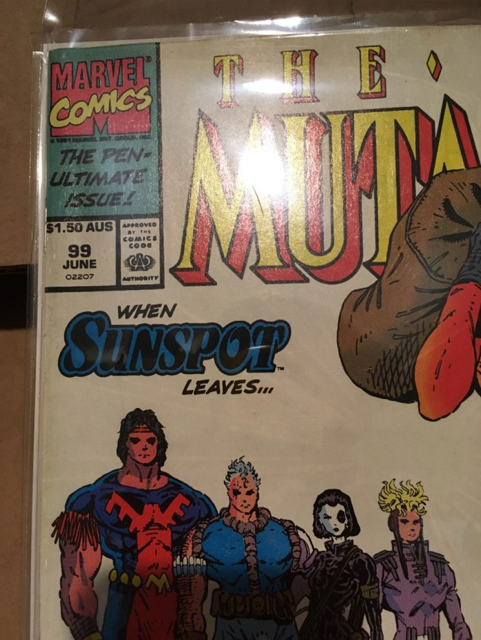 New Mutants #99, $1.50 AUS variant